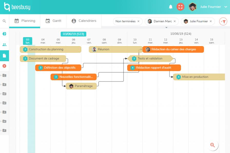 Beesbusy meilleur logiciel de gestion de projet