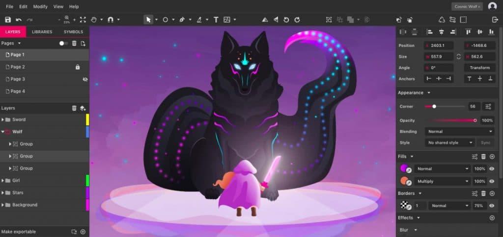 Gravit Designer outil gratuit pour dessiner en ligne