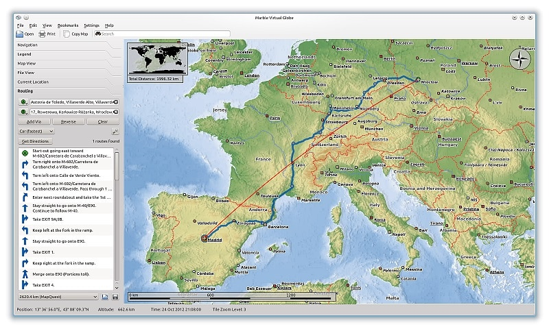 Marbre alternative gratuite Google Earth