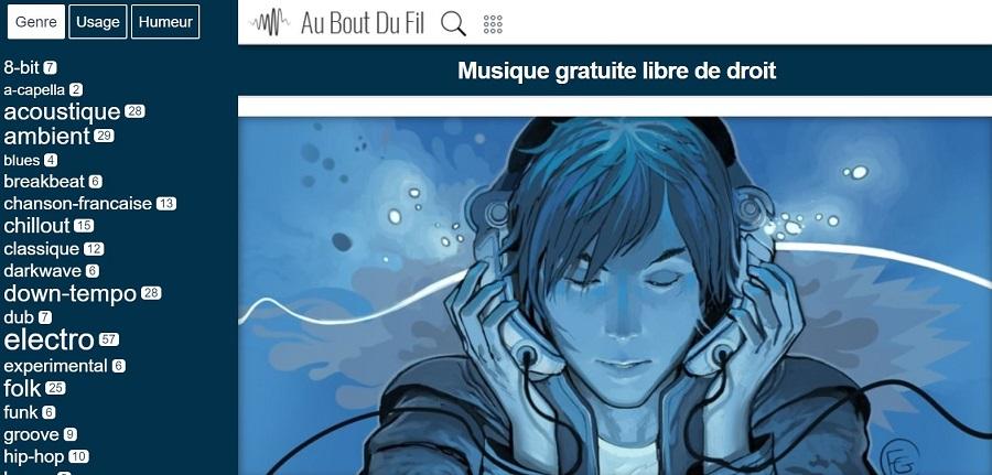 Au Bout Du Fil site de musiques libres de droits