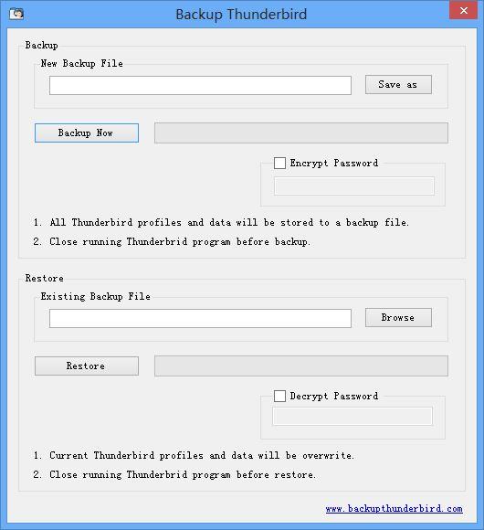 Backup Thunderbird Logiciel de sauvegarde gratuit