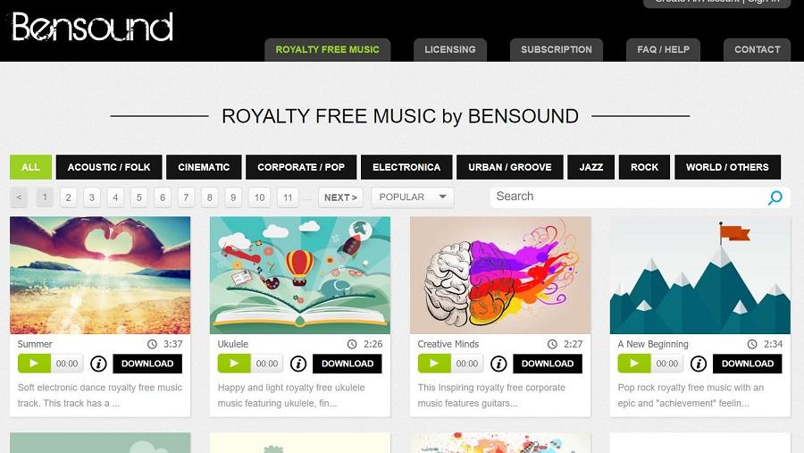 Bensound Musique libre