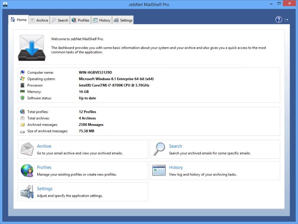 Mailshelf Pro restauration emails