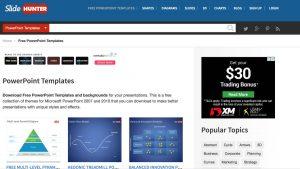 SlideHunter templates PowerPoint gratuits