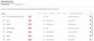 YouTube bibliothèque Musique libre de droit
