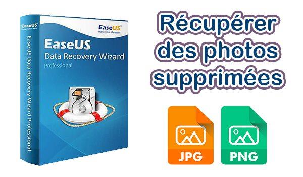 récupérer des photos supprimées avec EaseUS Data Recovery Wizard Free