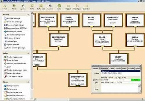 Visual généalogie logiciels de généalogie