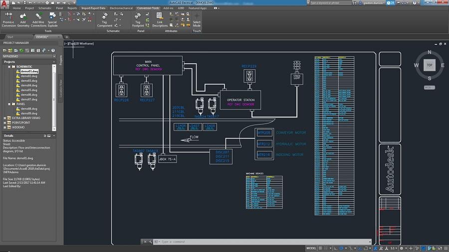 AutoCAD schema electrique habitation