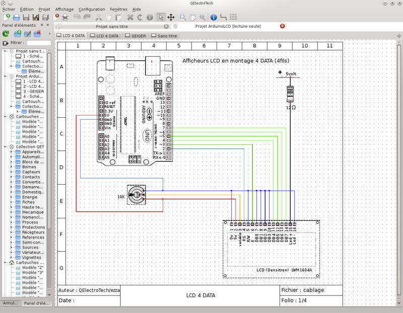 QElectrotech logiciel de schema electrique avec simulation