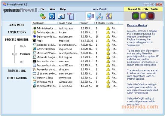 PrivateFireWall meilleur firewall gratuit