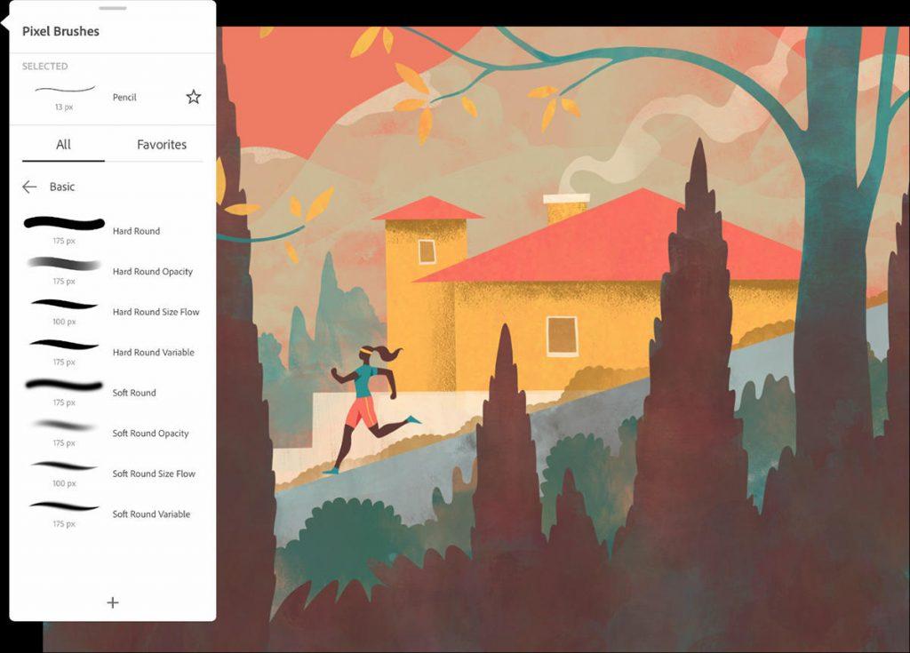 Adobe Fresco application pour dessiner sur tablette
