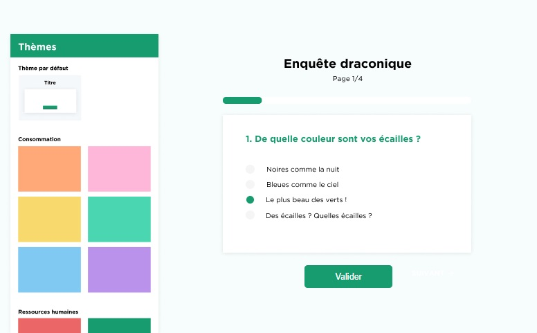 Créer un questionnaire avec Drag'n Survey