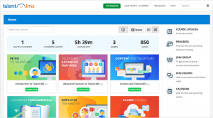 Interface de la plate-forme LMS de TalentLMS
