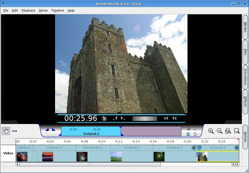 Vivia distribution linux montage vidéo