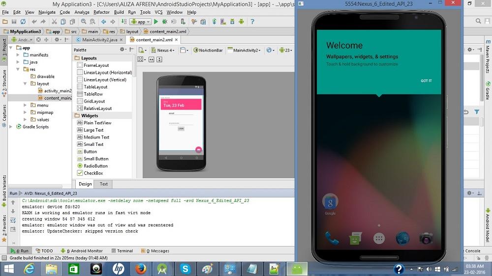 Android Studio Emulator émulateur android pour pc faible