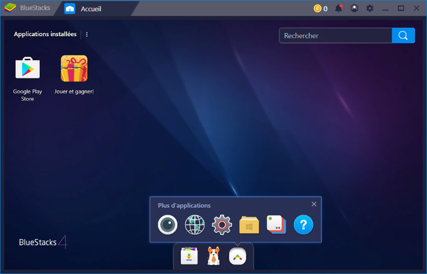 BlueStacks meilleur émulateur android pc