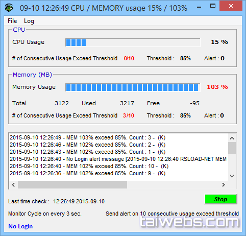 CPU Monitor et Alert logiciel de monitoring pc