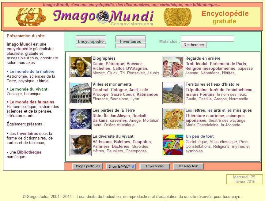Imago Mundi encyclopédie gratuite à télécharger