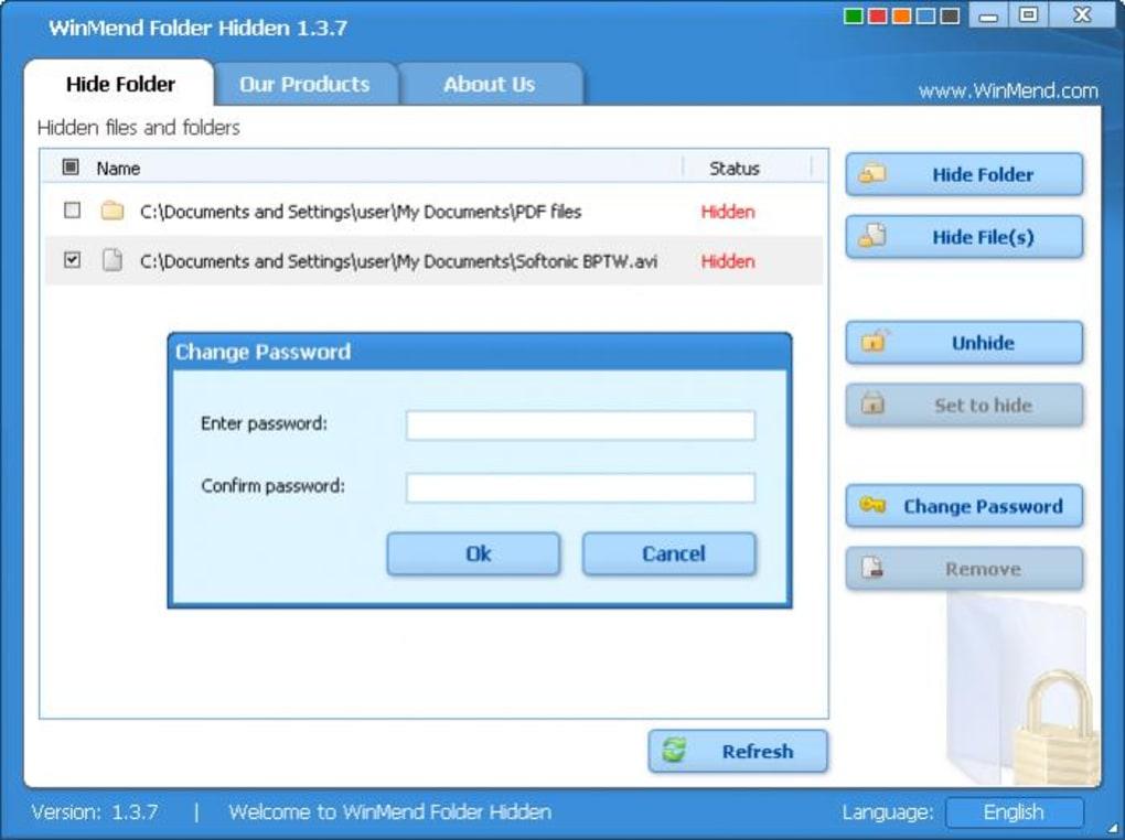 WinMend Folder Locker logiciel pour verrouiller un dossier gratuit