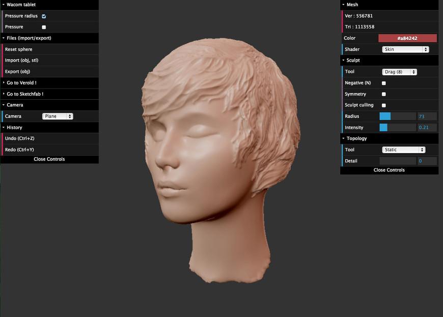SculptGL logiciel de modélisation 3d facile à utiliser