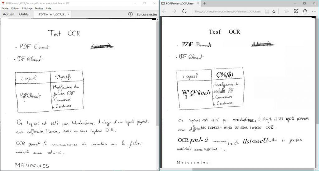 outils pour convertir l'écriture manuscrite en texte OCR
