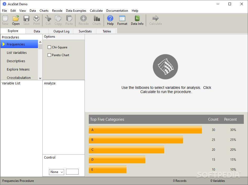 AcaStat logiciel de traitement de données statistiques gratuit