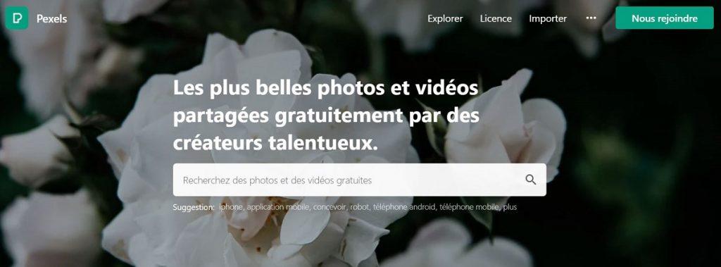 Pexels images libres de droits gratuites à télécharger