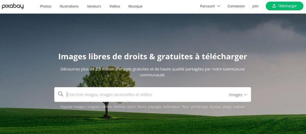 Pixabay trouver des images libres de droit gratuites
