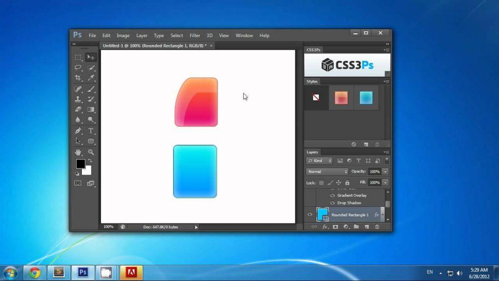 CSS3P effet photoshop gratuit