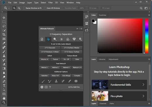 Ultimate Retouch Panel meilleur filtre photoshop