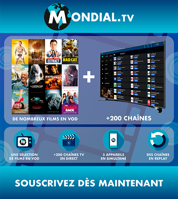 abonnement sur Mondial TV+