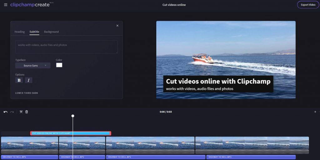 Clipchamp compresser une vidéo en ligne pour envoyer par mail