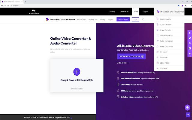 Online UniConverter compresser vidéo trop lourde
