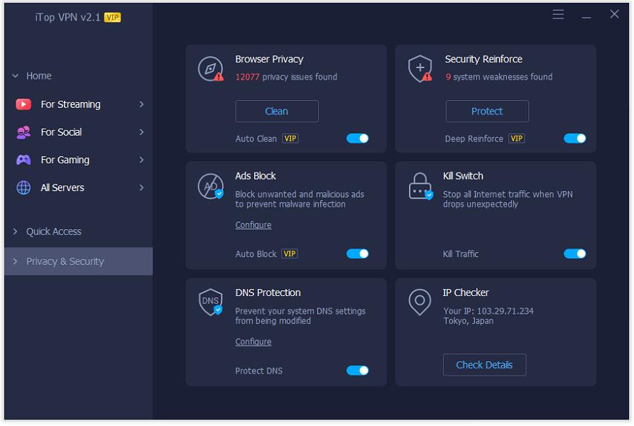 Installer iTop VPN
