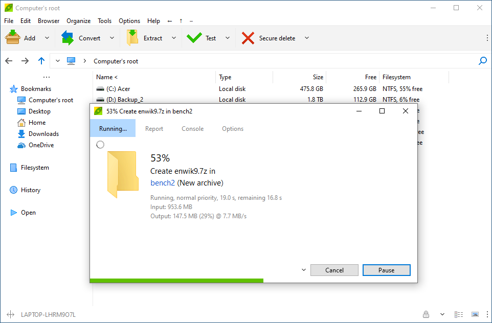 Peazip logiciel de compression gratuit en ligne