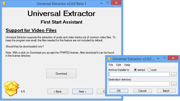 Universal Extractor logiciel de compression de fichier volumineux